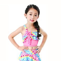 [Tặng kèm nón bơi đồng bộ] Đồ bơi 2 mảnh xinh yêu cho bé gái 4-10 tuổi BBShine – DB002a