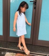 [MUA 1 TẶNG 1] TANOSA KIDS Váy Cotton Sát Nách Màu Trơn Cho Bé Gái Thời Trang Mùa Hè 10-22kg – tặng dây buộc tóc