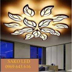Đèn mâm Led chiếc lá ốp trần trang trí đẹp 121-650mm 12 lá