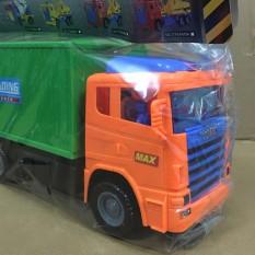 Đồ Chơi Xe Container Loại Lớn Long Thủy Bằng Nhựa An Toàn Cho Bé