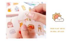 Set 12 Tờ Sticker Trang Trí Sổ Sách Độc Đáo