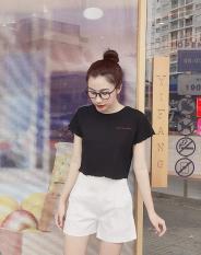 Áo croptop Thêu chữ Siêu Sang