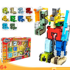 Đồ chơi lắp ráp Robot biến hình số 0-9 kèm dấu