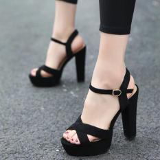 Giày cao gót Sandal đúp 12cm bản chéo
