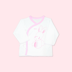 Áo vạt chéo cột dây thỏ chó trắng hồng – Miomio – Dành cho bé từ 0 – 24 tháng, cam kết hàng đúng mô tả, chất lượng đảm bảo, đa dạng mẫu mã, màu sắc, kích cỡ