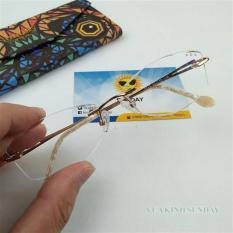 Gọng kính cận không viền đính đá V109