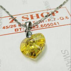 Mặt dây chuyền trái tim bạc 925 pha lê lấp lánh M15