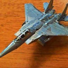 Mô hình kim loại lắp ghép lắp ráp trang trí trưng bày 3D Máy Bay F15 bằng thép không gỉ (tặng dụng cụ lắp ghép khi mua 2 bộ bất kì)