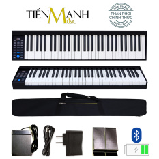 Đàn Piano Điện Konix PH61 – 61 Phím nặng Cảm ứng lực PH-61 Kết nối Bluetooth – Phần mềm và Hướng dẫn Tiếng Việt -Tặng bao đựng