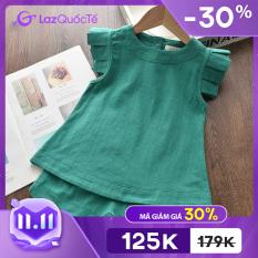 Bộ quần áo mùa hè phong cách mới áo T-shirt ngắn tay cổ tròn + quần giả váy hai mảnh phù hợp cho bé gái từ 3-7 tuổi – INTL – Giới hạn 3 sản phẩm/khách hàng