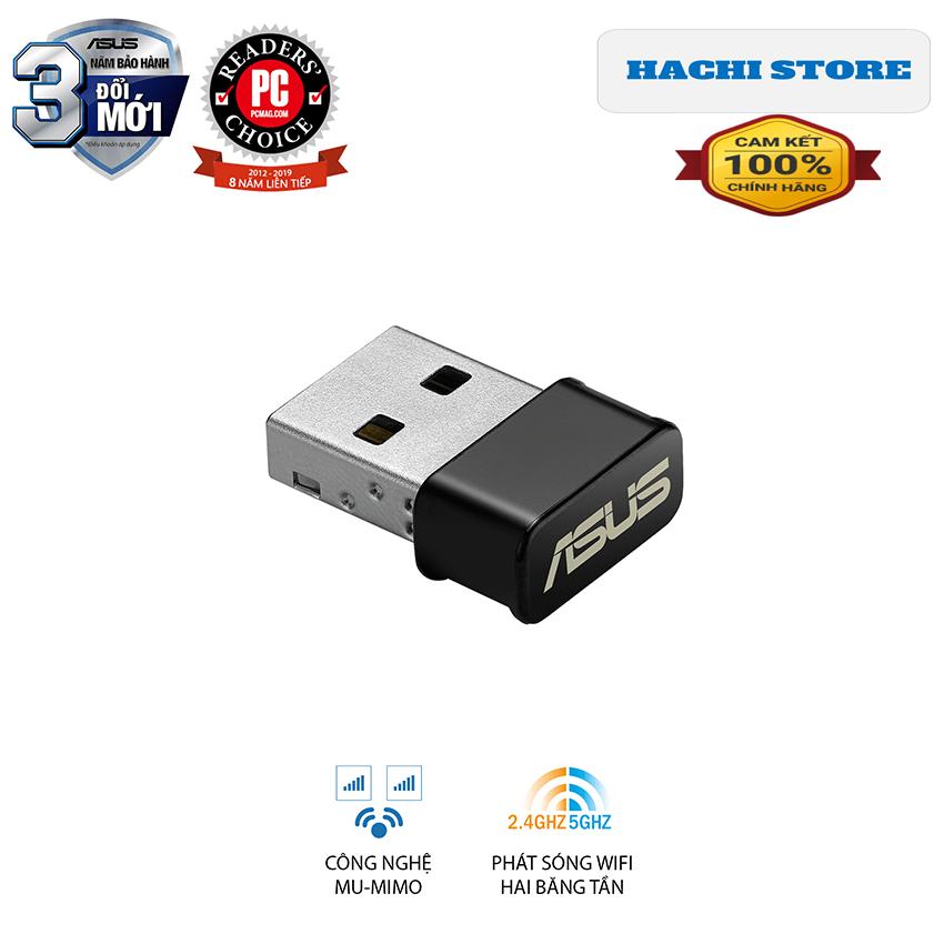 USB Wifi chuẩn AC1200 Asus USB-AC53nano – Hàng Phân Phối Chính Hãng
