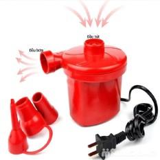 (BÁN SỈ)Bơm điện,Bơm điện 2 chiều mini có chế độ hút chân không hàng màu đỏ loại 1,Bơm điện 2 chiều thổi hơi hút chân không Wenbo / Máy Bơm Hút Điện Đa Năng