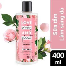Sữa tắm làm sáng da Love Beauty And Planet Majectic Glow 400ml