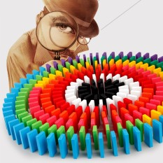 [Lấy mã giảm thêm 30%]Đồ chơi Domino màu 100 chi tiết cho bé