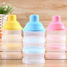 Hộp chia sữa 3 ngăn tiện dụng cho mẹ và bé