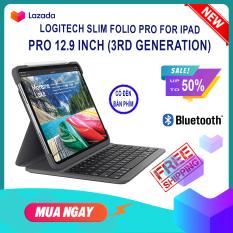 Bàn Phím Logitech Slim Folio Pro Cho iPad Pro 12.9 inch (3rd Gen – 2018) – (4rd Gen – 2020)Tích Hợp Case Bảo Vệ, Đèn Bàn Phím New Full Box