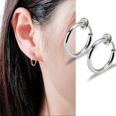 Bông tai khoen tròn không cần bấm lỗ (1 cặp)