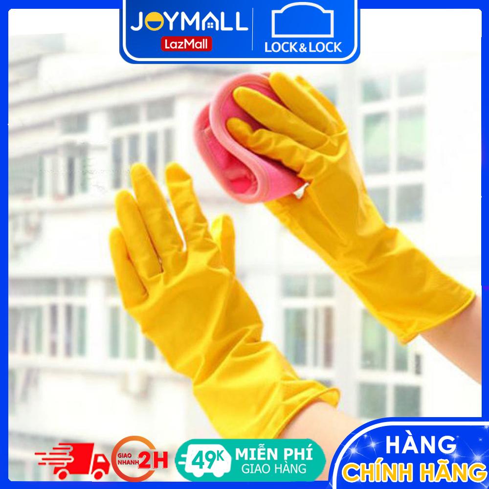 Găng tay rửa chén cao su tự nhiên Lock&Lock ETM803Y ETM804Y, Hàng chính hãng – JoyMall