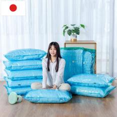 Bộ 4 túi chân không Kitai KT037 đựng quần áo, chăn màn, mền gối của Nhật Bản kích thước 56x80cm + 80x100cm – Guty Care