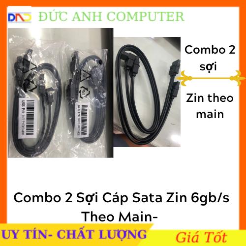COMBO 2 Sợi Cáp Sata Asus 3.0 Chuẩn 6.0 Gb/s Chính Hãng (Hàng mới, zin bóc main)- Có Nẹp Cài Kim Loại Xịn