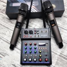 [Gía Gốc +Free ship] Combo Trọn Bộ Mixer Yamaha G4 Bluetooth – Tặng Kèm 2 Micro Không Dây Tạo Vang Tốt Âm Thanh To Sắc Nét, Sử Dụng Nhiều Cho Karaoke Gia Đình Dàn Âm Thanh MINI Chuyên Nghiệp Và Phát Livestream …BH 12 Tháng
