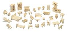 Bộ đồ chơi lắp ghép mô hình nhà gỗ