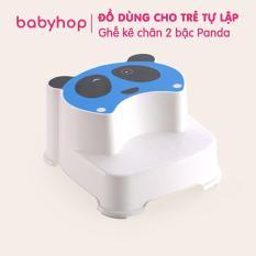 Ghế Panda 2 bậc Babyhop, bé dùng kê chân đi toilet, rửa tay, đánh răng rửa mặt. Chân đế có lót cao su chống trượt
