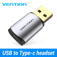 Vention New External USB Sound Card USB to USB C Earphone Audio Adapter Soundcard for Laptop PS4 USB Type C Sound Card