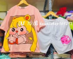 Clip ảnh thật Set hoạt hình, bộ quần áo cartoon có tách lẻ bán rời áo , quần riêng