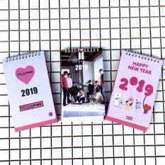 Lịch Blackpink Lisa Jisoo Jennie Rose 2019 thiết kế tiện lợi, in màu xinh xắn