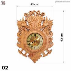 Đồng hồ treo tường Gỗ thông(nâu) – (40*60cm) – trang trí nhà cửa – Phong cách Châu Âu – Bảo Hành 24 Tháng + Tặng 1 Pin Dự Phòng
