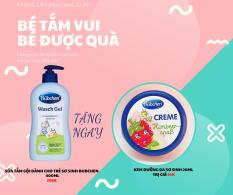 Bubchen – Sữa tắm gội sơ sinh Wasch Gel 400ml-44725, chăm sóc và bảo vệ da và tóc bé luôn khỏe mạnh, không làm cay mắt bé, không chứa mùi nhân tạo gây dị ứng. Tặng kèm 1 Kem dưỡng da sơ sinh Bubchen 20ml (Hương ngẫu nhiên)