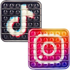 Pop it – Đồ Chơi Nhấn Bóng Hình Tiktok, Instagram Hot Trend 2021 Giảm Stress, Căng Thẳng Cho Mọi Lứa Tuổi
