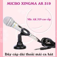 Mit karaoke mini, Hát karaoke bằng mic, Micro Karaoke Có Dây XingMa AK319, hàng chuẩn nhập khẩu công ty, Kiểu Dáng và Màu Sắc Đẹp, Âm Thanh Đỉnh Cao Chuyên Nghiệp, Giảm Giá Nhanh 50% Hôm Nay , Bảo Hành Uy Tín 1 Đổi 1 bởi TechStore, M183