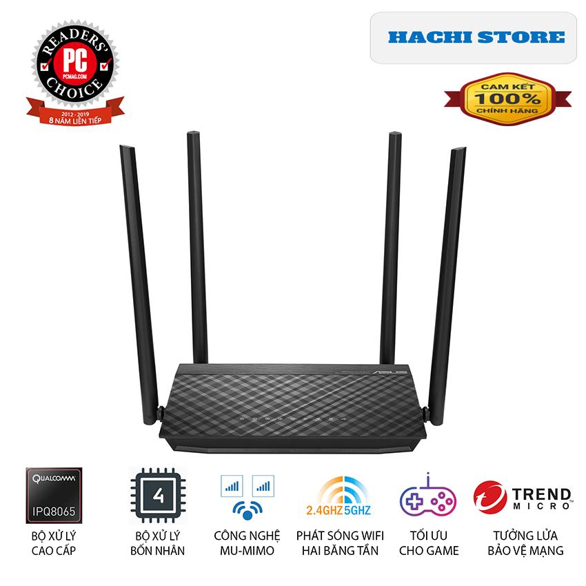 Bộ Phát Wifi chuẩn AC 1500 Asus RT-AC1500UHP Băng Tần Kép – Hàng Chính Hãng
