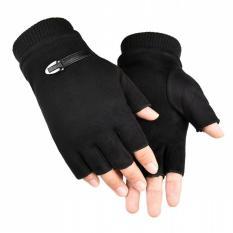 Găng tay phượt thủ nam da lộn cao cấp mẫu NEW – màu đen