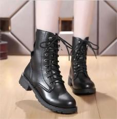 Giày bốt nữ cao cổ phong cách Hàn Quốc đế cao 2cm B140