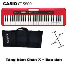 [Trả góp 0%] Đàn Organ Casio Casiotone CT-S200 (Đủ 3 màu) Kèm Adapter + Giá nhạc + Chân X + Bao đàn – Việt Hoàng Phong