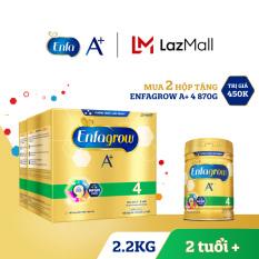 Bộ 2 hộp sữa bột Enfagrow A+ 4 2.2kg (4 túi thiếc 550g) – Tặng 1 lon Enfagrow A+ 4 830g