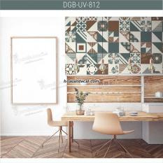 Decal gạch bông – Decal dán tường DGB-UV-812AB 2 tờ 80x60cm – Bộ 24 decal hoa văn