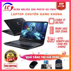 [Fullbox Nguyên Seal New 100%] Laptop Gaming Acer Predator Helios 300 PH315-52-78VL, i7-8570H, RAM 16G, SSD 256Gb, VGA Nvidia GTX 1060Ti- 6G, màn 15.6 FullHD IPS, LaptopLC298