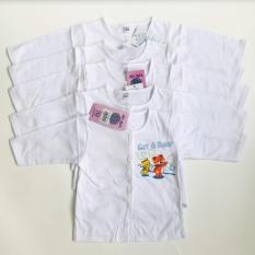 Áo sơ sinh dài tay cổ tròn trắng in họa tiết Yến Trân cho bé từ 3-10 kg – BEEKIDS PLAZA