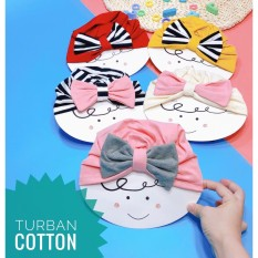 Mũ tuban hình nơ Cotton mẫu mặt cười