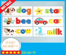 Bộ Thẻ Học Thông Minh Flash Card, Bộ bảng chữ cái đánh vần tiếng Anh giúp bé học chữ và nhận biết thế giới xung quanh