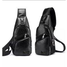 Túi đeo chéo nam da cao cấp 4 ngăn (Đen) TNN