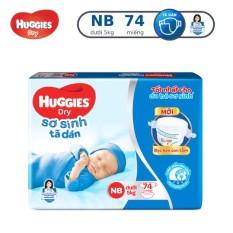 Bỉm – Tã dán sơ sinh Huggies size NB – 74 miếng (Cho bé dưới 5kg)