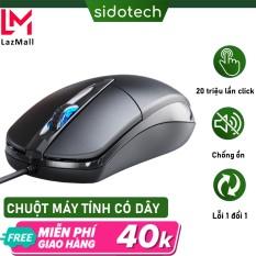 Chuột máy tính có dây SIDOTECH P20 dòng chuột vi tính gaming cho laptop máy tính văn phòng gaming DPI 1200 có phiên bản chuột silent chống ồn chơi game cho game thủ- Hàng Chính Hãng