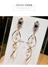 Bông tai bạc S925 phong cách Hàn Quốc hàng đẹp hơn hình ( mẫu bông dài xoắn ngọc trai)