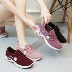 Giày giả dây họa tiết hoa cúc SALE LỚN XẢ TẾT RẺ TẸT GA l Giày nữ thể thao l giày đi bộ l giày thể dục l giày chạy bộ l giày đi chơi l giày dành cho người đi bộ nhiều l
