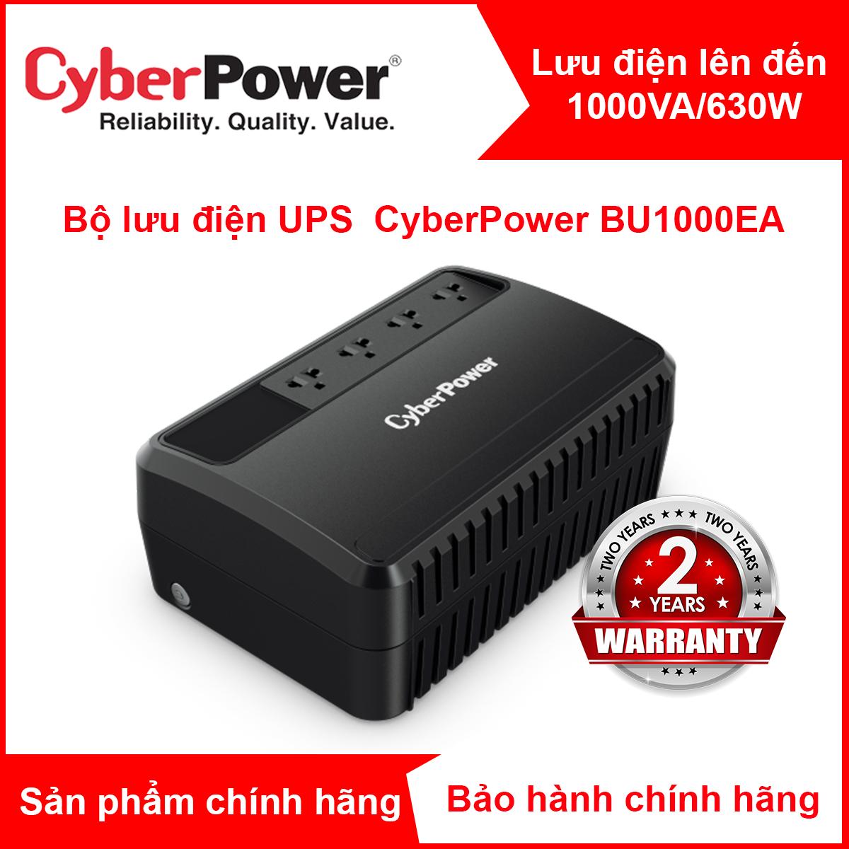 Bộ chống sốc điện/bộ lưu điện UPS CyberPower BU1000EA – 1000VA/630W